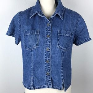 Tops - Studio Ease Vintage Button Up Denium Shirt